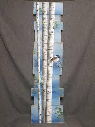 white birch pallet art pine tree reclaimed wood pallet art zoom