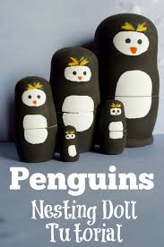 make your own penguins nesting doll craft tutorial