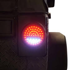 jeep jk led tail light bulb round g4 led tail lights for jeep wrangler jk 2007 2017 genssi