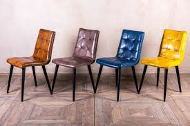 Slim Dining Chairs Ripon Slim Dining Chairs In Buffalo Leather Intérieur Cuisine