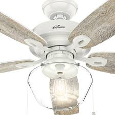 hunter crown canyon ceiling fan hunter crown canyon 52 in led indoor outdoor fresh white ceiling