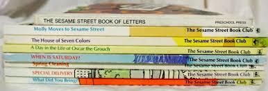 sesame street book club set 8 rare books moves sesame
