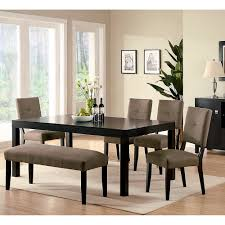 overstock dining room sets furniture of america rockwell espresso finish 6 piece dining set