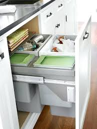 Pull Out Cabinet Shelves by Trash Cans Under Kitchen Cabinet Double Pull Out Trash Can With