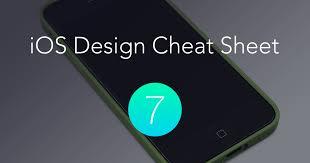the ios 7 design cheat sheet ivo mynttinen user interface designer