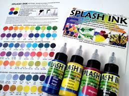 yasutomo and company splash ink acrylic mixing colors 4 color set