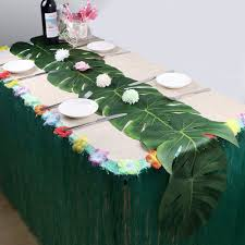 24Pcs Wedding Party Decoration Artificial Tropical Palm Leaves For