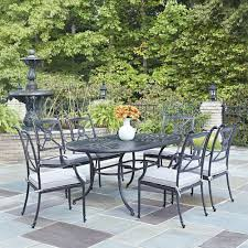 Cast Aluminum Patio Tables Home Styles Athens Charcoal 7 All Weather Cast Aluminum