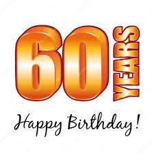 60 years birthday card happy birthday 60 years vector greeting card stock vector