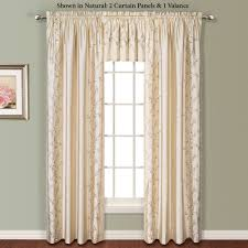Faux Silk Embroidered Curtains Embroidered Floral Faux Silk Window Treatment