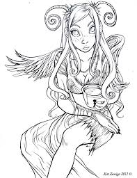 coloring pages dark fairy coloring pages anime coloring pages