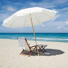 8 Foot Patio Umbrella by Fiberbuilt 7 5 Foot Wood Pole Beach Umbrella 7 Ft Beach Umbrellas