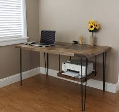 Simple Wooden Office Tables Pipe U0026 Wood Office Custom Desk Desk Shelves And Pipes