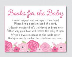 bring a book instead of a card baby shower pumpkin baby shower bring a book instead of a card