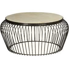 38 round coffee table basket mango wood iron 38 round coffee table