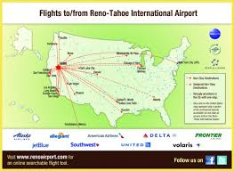 Map Houston Airport Flight Info Reno Tahoe International Airport