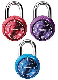 amazon com master lock padlock mini dial combination lock 1 9
