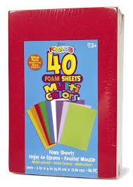 amazon com darice 106 118 40 pack foam sheets 6 by 9 inch assorted