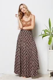 Black Tree Skirts Tree Of Life Sahara Skirt In Black Maxiskirt Patterened