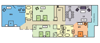 4 bedroom condos myrtle 4 bedroom 3 bath oceanfront condo type 2 at grand atlantic resort