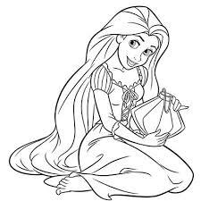 coloriage princesse raiponce à colorier dessin à imprimer