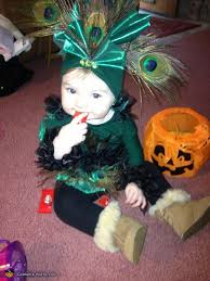 Child Peacock Halloween Costume Cute Homemade Peacock Baby Costume