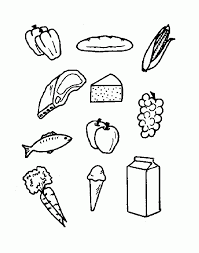 Food Coloring Pages For Kids Free Download Food Coloring Pages For Food Color Pages