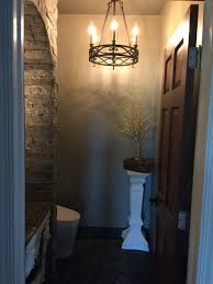 Amazon Bathroom Light Fixtures by Powder Room Entrance To Our Old World Castle Bathroom With