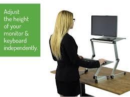 amazon com workez standing desk conversion kit adjustable