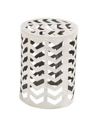 elegant metal square stool silver chrome floral modern accent home