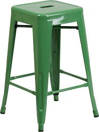 High Patio Table Retro Metal Backless 24 Inch Counter Height Patio Bar Stool