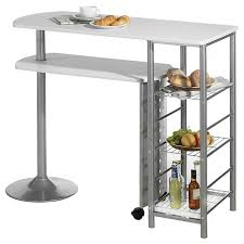 acheter bar cuisine table haute de bar josua mdf décor blanc achat vente meuble