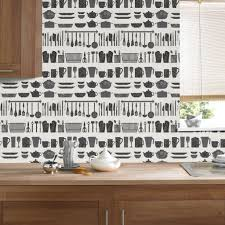 kitchen wallpaper bathroom wallpaper kitchen bath making a crockery black and white wallpaper