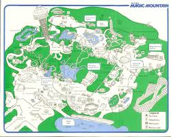 Six Flags Magic Mountain by Six Flags Magic Mountain 1983 Park Map