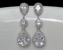 wedding earrings drop beautiful wedding drop earrings sheriffjimonline