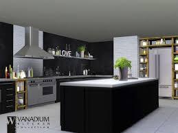 Sims 3 Kitchen Ideas Wondymoon Tsr Vanadium Kitchen Sims3 Sims Pinterest Sims