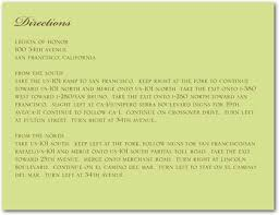 examples of directions for wedding invitations the wedding