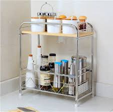 Stainless Steel Kitchen Shelves by Double Spice Rack 304 Stainless Steel Kitchen Shelf Seasoning Cans