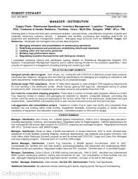 Career Summary Resume Example by Sample Resume For Warehouse Supervisor Free Resume Example And