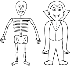 Halloween Coloring Pages For Girls by Skeleton With Vampire Coloring Page Halloween