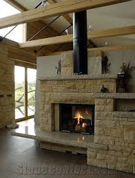 sandstone fireplace yellow crushed sandstone fireplace from czech republic