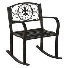 Metal Rocking Patio Chairs Metal Patio Chairs Ebay
