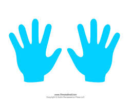 coloured templates blank hand template printables handprint templates