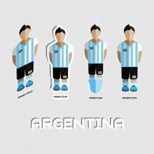 argentina soccer team sportswear template u2014 vetores de stock