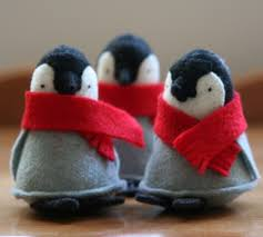 these are so cute 1 penguin with red scarf all things small
