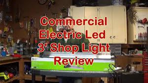 commercial electric 3ft led shop light commercial electric 3 foot led shoplight youtube