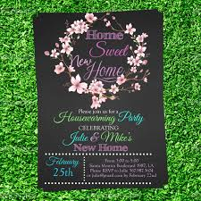 Housewarming Invitation Cards Free Download Chalkboard Housewarming Invitation We U0027ve Moved Invite We