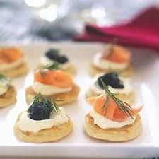 what does canape blinis with smoked salmon and caviar recipes delia