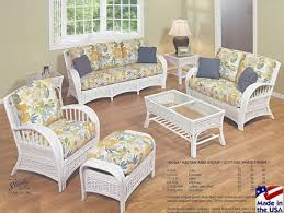 Rattan Living Room Furniture White Rattan And Wicker Living Room Furniture Sets Pertaining To