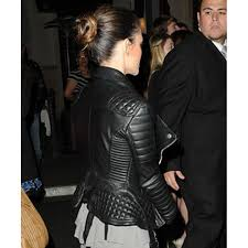 padded leather motorcycle jacket rachel bilson leather jacket womens black quilted jacket